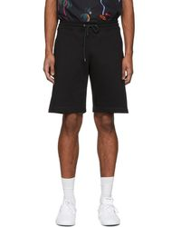 PS by Paul Smith - Black Sweat Shorts - Lyst