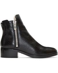 3.1 Phillip Lim - Black Shearling Alexa Boots - Lyst
