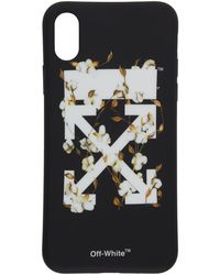 8ba0a7f99c25 Off-White c o Virgil Abloh - Black And White Cotton Flower Iphone X