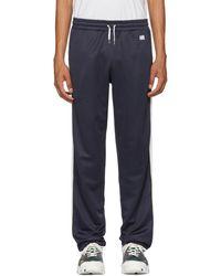 AMI - Navy Striped Sweatpants - Lyst