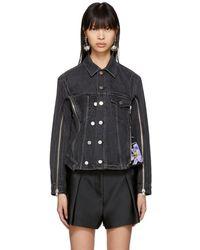 3.1 Phillip Lim - Black Denim Jacket - Lyst