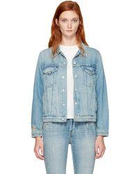 AMO - Blue Denim Pop Jacket - Lyst