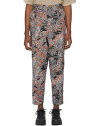 3.1 Phillip Lim - Tan Floral Palm Tree Trousers - Lyst