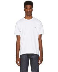 Comme des Garçons - White Logo T-shirt - Lyst