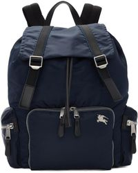 Burberry - Blue Medium Aviator Backpack - Lyst
