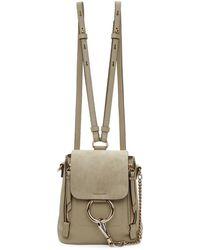 Chloé - Grey Mini Faye Backpack - Lyst