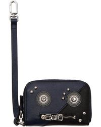 Prada | Black Saffiano Robot Card Wallet | Lyst