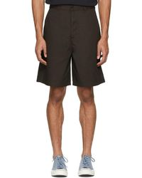 Acne Studios - Brown Port Shorts - Lyst