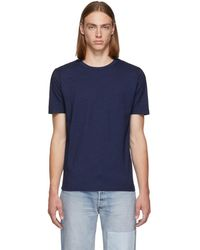 Levi's - Indigo Cotton T-shirt - Lyst