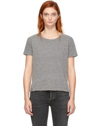 AMO - Grey Twist T-shirt - Lyst