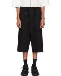 Y-3 - Black Sarouel Shorts - Lyst