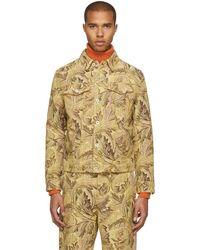 Loewe - Yellow William Morris Denim Jacket - Lyst