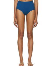 Her Line - Blue Classic High-waist Bikini Briefs - Lyst