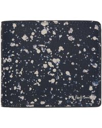 PS by Paul Smith - Blue Splatter Bleach Bifold Wallet - Lyst