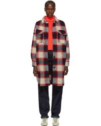 Étoile Isabel Marant - Red And Blue Gario Wool Coat - Lyst