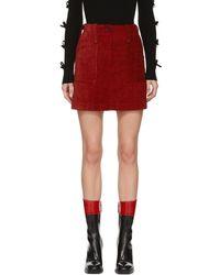 McQ - Red Major Miniskirt - Lyst