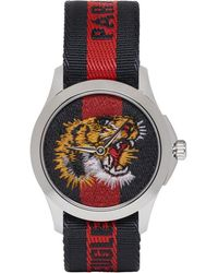 Gucci - Navy And Red G-timeless Laveugle Par Amour Tiger Watch - Lyst
