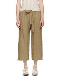 Raquel Allegra - Brown Cropped Pyjama Trousers - Lyst
