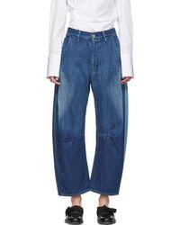 Y's Yohji Yamamoto - Blue U-wide Gusset Jeans - Lyst