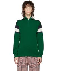 Gucci - Green Striped Zip Jumper - Lyst