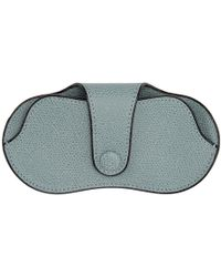 Valextra - Blue Leather Glasses Case - Lyst