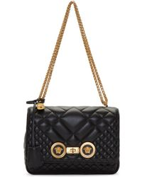 Versace - Black Medium Medusa Tribute Quilted Chain Bag - Lyst