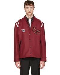 Lanvin - Red Wool Lobster Bomber Jacket - Lyst