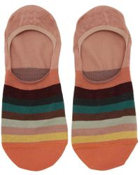 Paul Smith - Orange Multistripe No Show Socks - Lyst