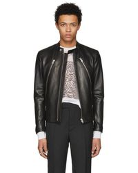 Maison Margiela - Black Leather Classic Five-zip Jacket - Lyst