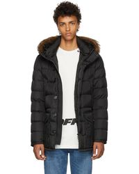 Moncler - Black Cluny Down Coat - Lyst