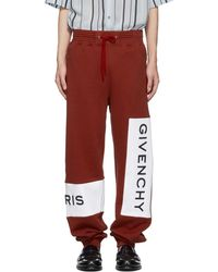 Givenchy - Red Cotton Logo Lounge Trousers - Lyst