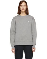Acne Studios - Grey Oversized Fairview Face Sweatshirt - Lyst