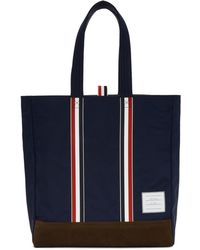 Thom Browne - Navy Unstructured Tote - Lyst