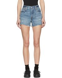 Levi's - Blue Denim Wedgie Shorts - Lyst