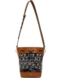 a39d2caada9c Lyst - Fendi Black And Brown Small Forever Camera Bag in Brown
