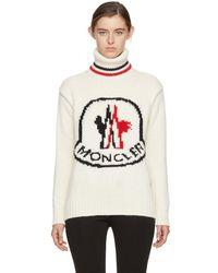 Moncler Gamme Rouge - White Cashmere Logo Turtleneck - Lyst