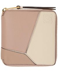 Loewe - Pink Small Puzzle Wallet - Lyst