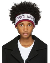 Dolce & Gabbana - White And Purple Logo Headband - Lyst