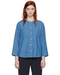 A.P.C. - Indigo Leet Shirt - Lyst