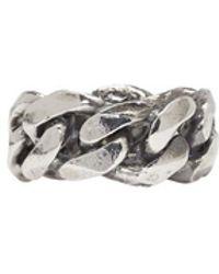 Emanuele Bicocchi - Silver Chain Ring - Lyst