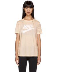 Nike - Pink Nse Logo T-shirt - Lyst
