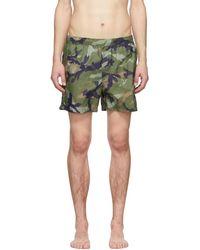 a75130264e Valentino Pineapple-print Swim Shorts in Black for Men - Lyst