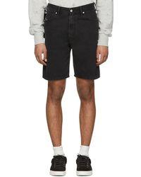 DIESEL - Black Denim D-wiloh Shorts - Lyst