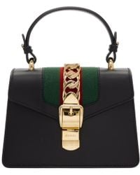 Gucci - Black Mini Sylvie Bag - Lyst
