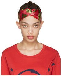 Gucci - Pink Logo Cube Headband - Lyst