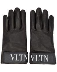 Valentino - Black Garavani Vltn Gloves - Lyst