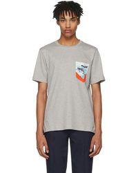 Paul Smith - Grey Contrast Pocket T-shirt - Lyst