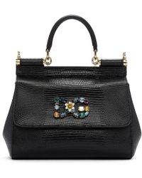Dolce & Gabbana - Black Small Miss Sicily Bag - Lyst