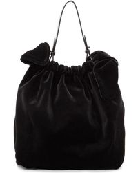 Simone Rocha - Black Velvet Double Bow Clutch - Lyst