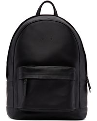 PB 0110 - Black Mini Leather Backpack - Lyst